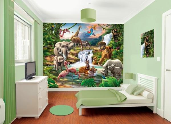 cuarto niño tema jungla