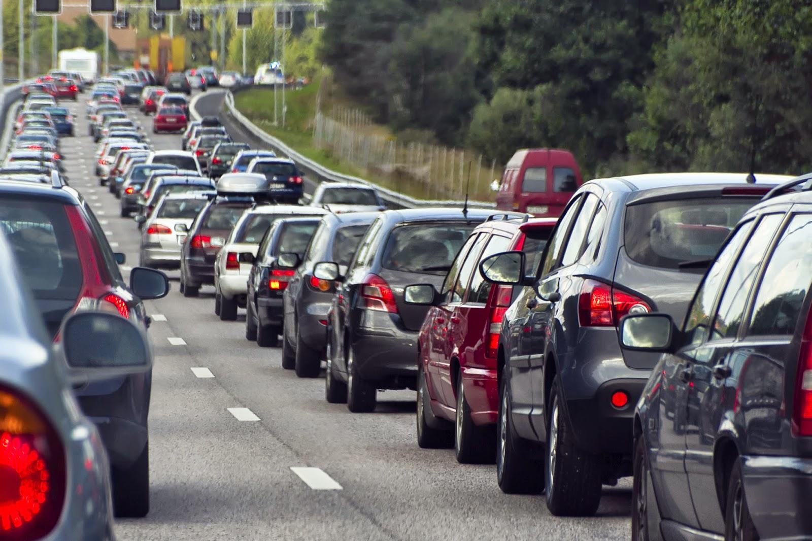 Bumper-to-bumper traffic