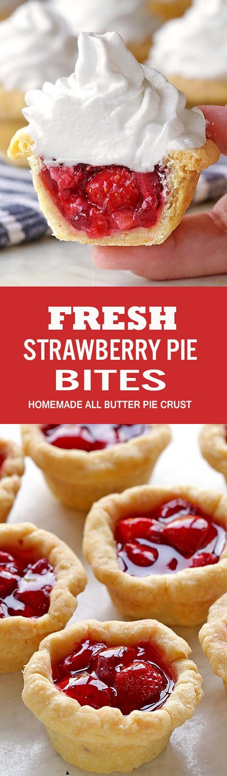 Fresh Strawberry Pie Bites