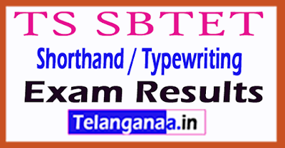 TS SBTET Shorthand / Typewriting Exam Results