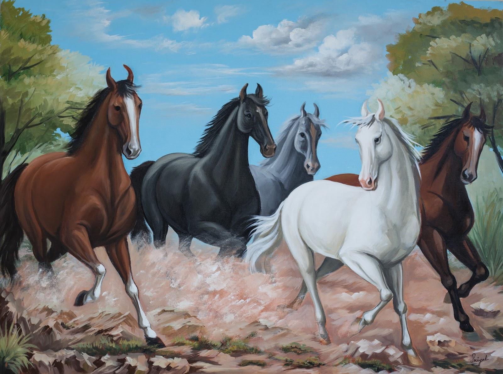 Running Horses Wall Art - Elitflat
