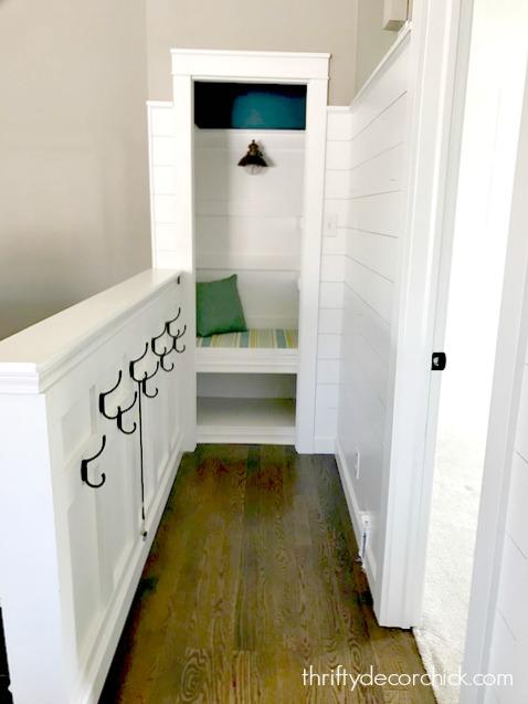 DIY book nook closet