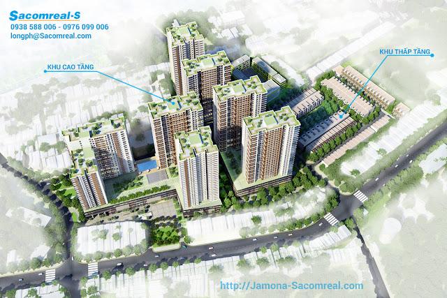 Phối cảnh tổng thể dự án Hà Đô 756 Sài Gòn từ trên cao