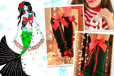 Mermaid Style Christmas at Mademoiselle Mermaid
