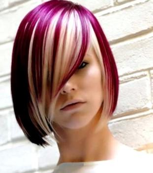 rambut pendek wanita kombinasi warna