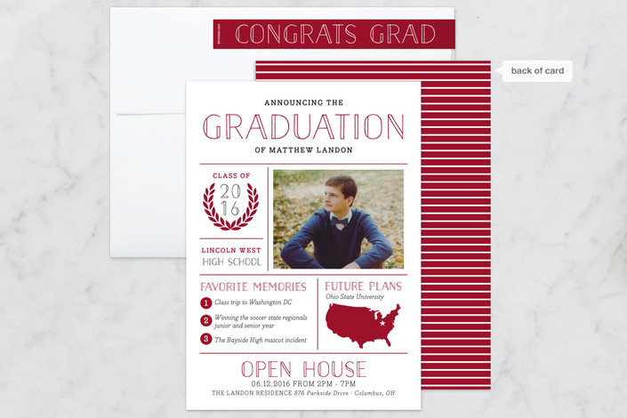 graduation announcement for Minted