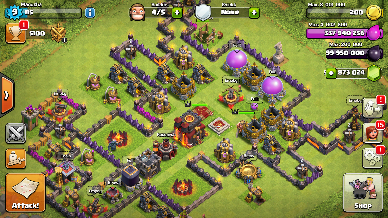 clash of clans hack version i hacked it v8.709.16