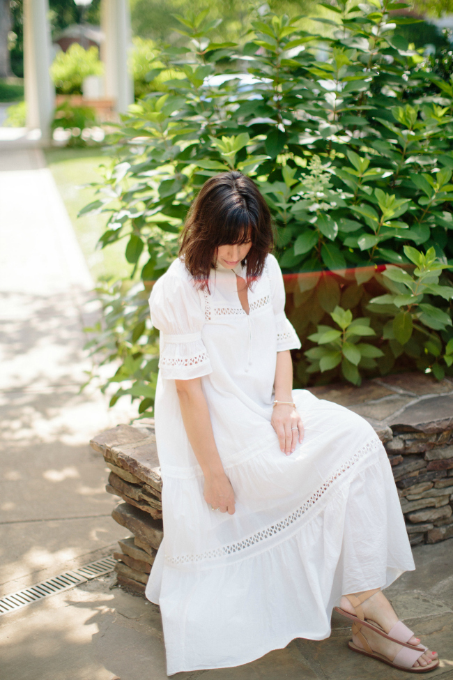 white midi dress, white summer dress