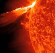 Potenten erupción Sol