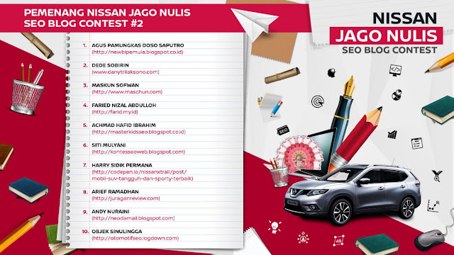 Pemenang Kontes SEO Nissan 2 2016