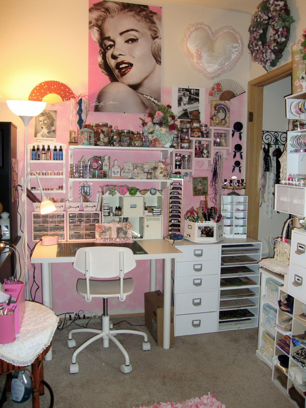 Shabby Chic Craft Room Pinterest