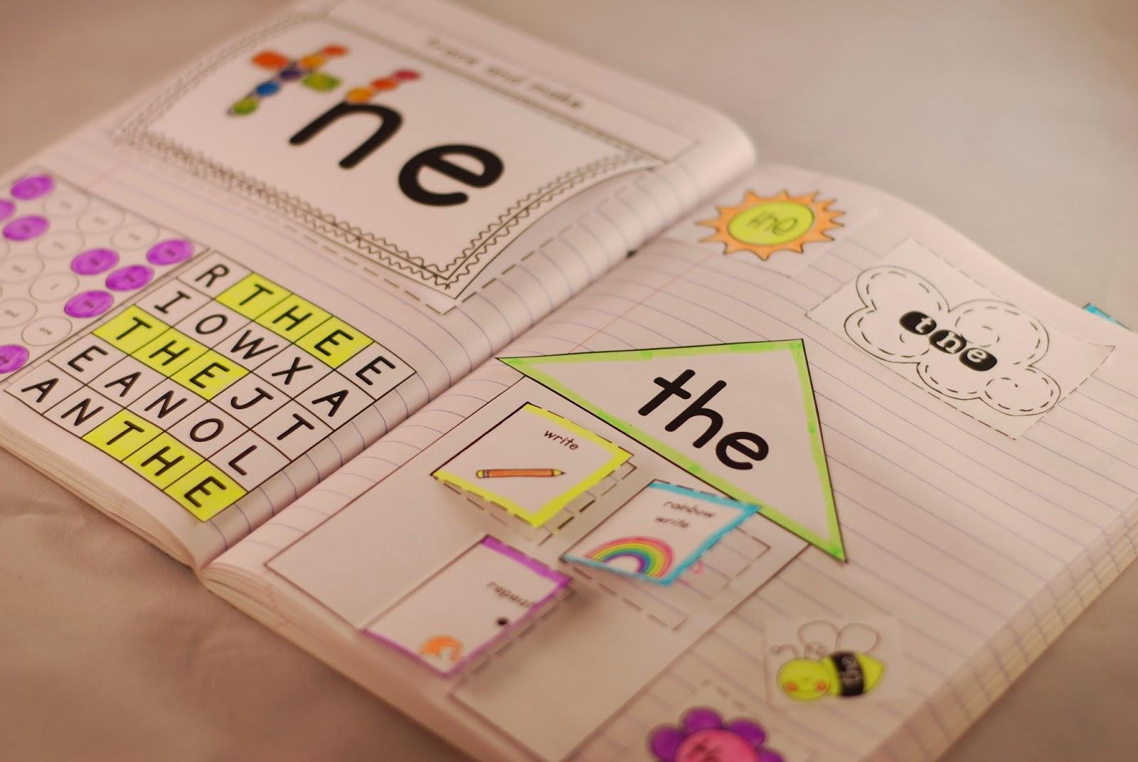 The Teacher Gene Sight Word Interactive Notebooks