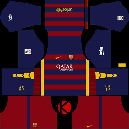Barcelona Kits 2015/2016 - Dream League Soccer