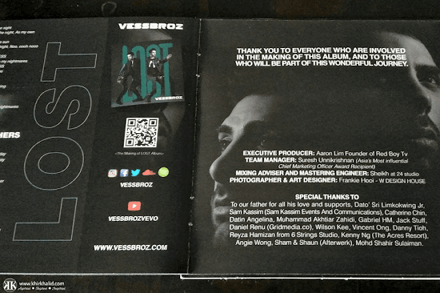 Vessbroz, Lost Album, Sony Music Malaysia,