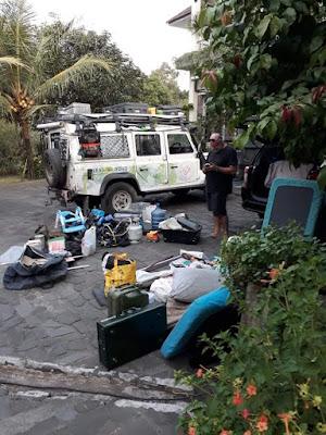 Landrover terperosok di Yogyakarta