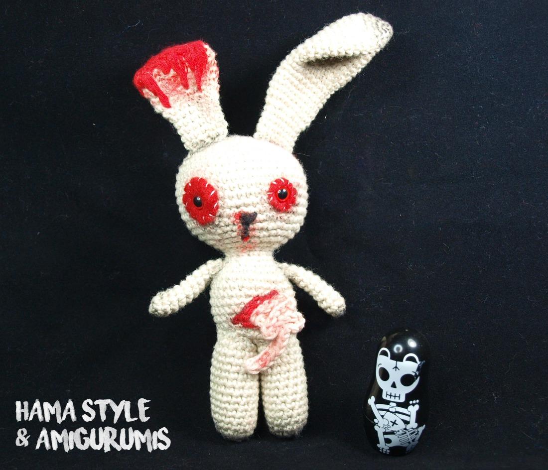 Marta Ruso Crochet Creativo: Conejito zombie - Especial Halloween ...