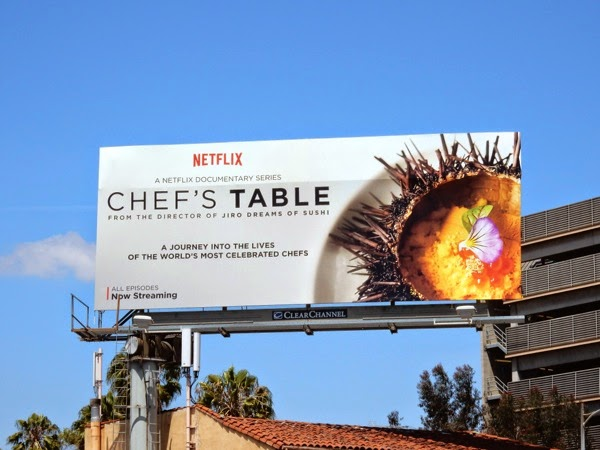 Chef's Table series premiere billboard