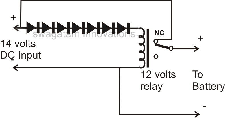 Automatic Battery Charger Circuit Using a Single Relay