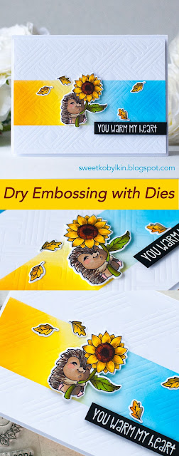 Dry Embossing with Cover Dies