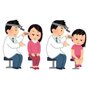 耳鼻科検診のイラスト