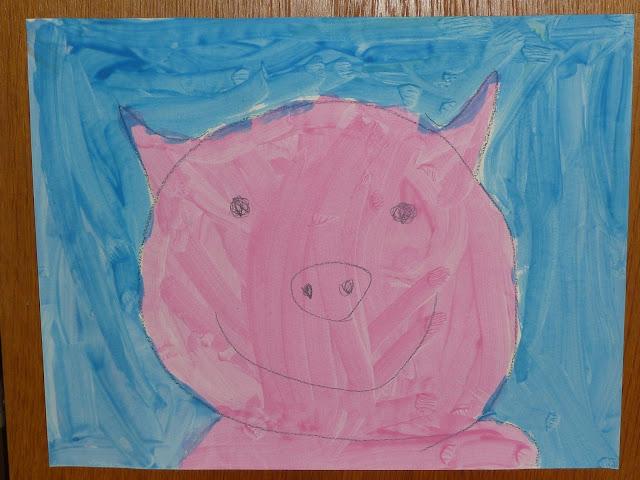 Schweine zeichnen mit Kindern