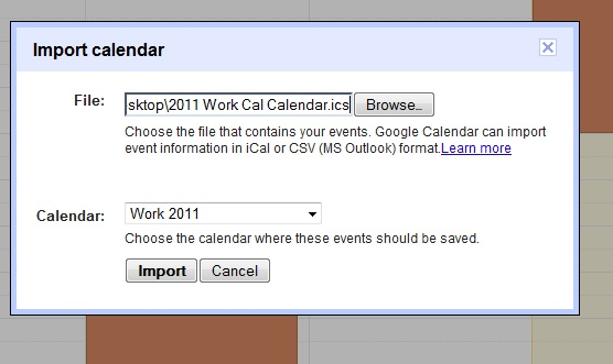 Journaling the Journey Import Outlook or iCal Calendars in Google
