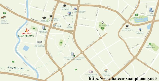 Vị trí chung cư Hateco