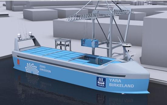 Em 2018 estreará o primeiro navio autônomo e elétrico