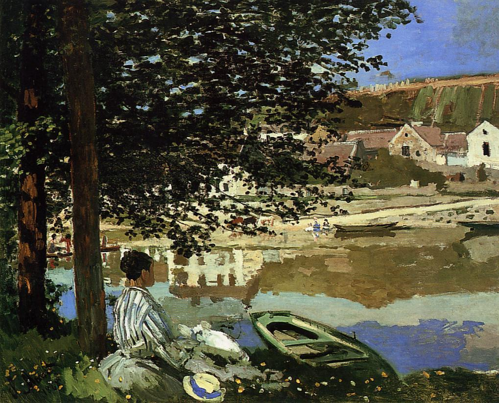 Claude  Monet  au  bord  de  leau  bennecourt
