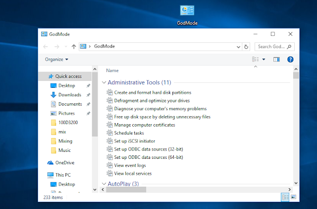 How To Activate GodMode On Windows 7, 8 and 10