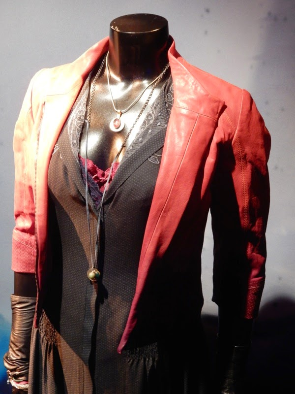 Scarlet Witch red leather jacket Avengers Age of Ultron