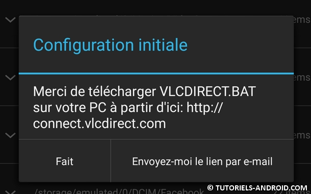 VLCDIRECT.BAT - Configuration