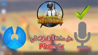 حل مشكلة المايك في الببجي على نظام الفينيكس ( phoenix )