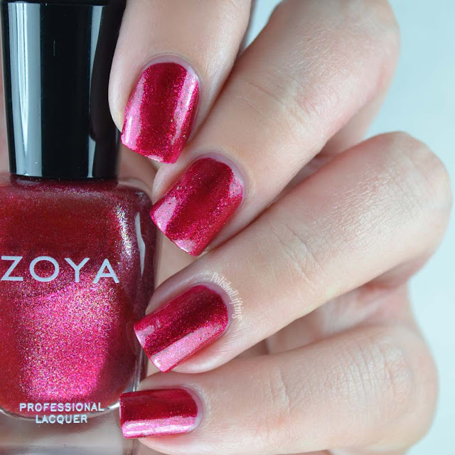 cherry metallic nail polish
