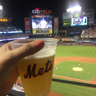 new york mets-baseball game-beer