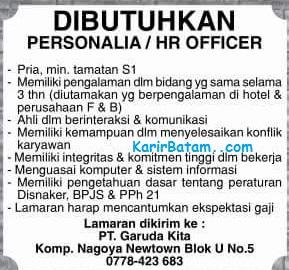 Lowongan Kerja PT. Garuda Kita Indonesia