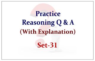 Practice Reasoning Questions (with explanation) for Upcoming IBPS RRB Exams 2015 Set-31