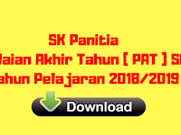 SK Panitia Penilaian Akhir Tahun ( PAT ) SMA Tahun Pelajaran 2018/2019