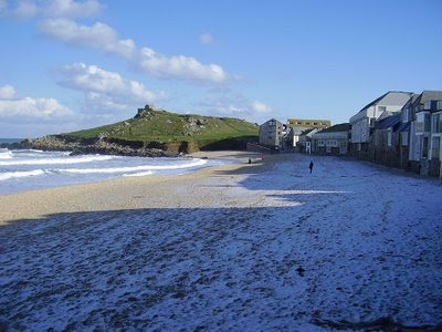 St Ives Cornwall - Porthmeor In Winter