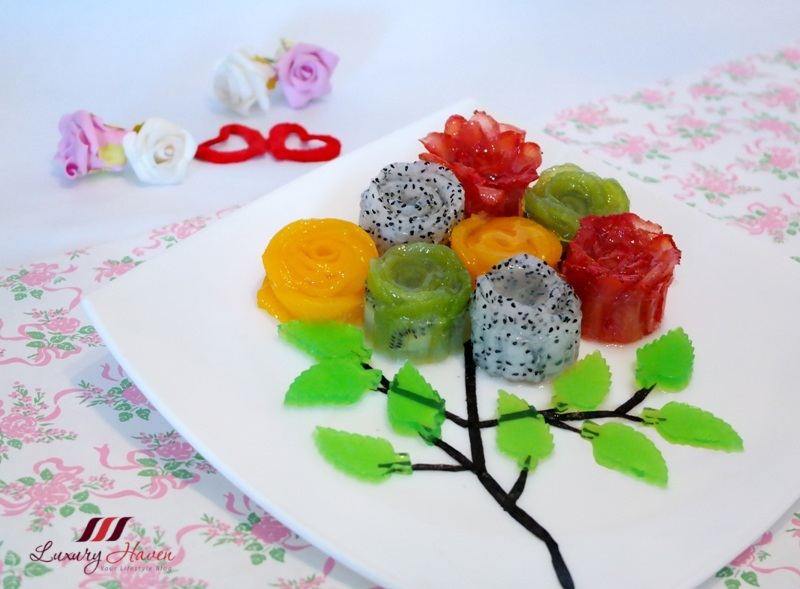 valentines day flowers bouquet creative food art jelly