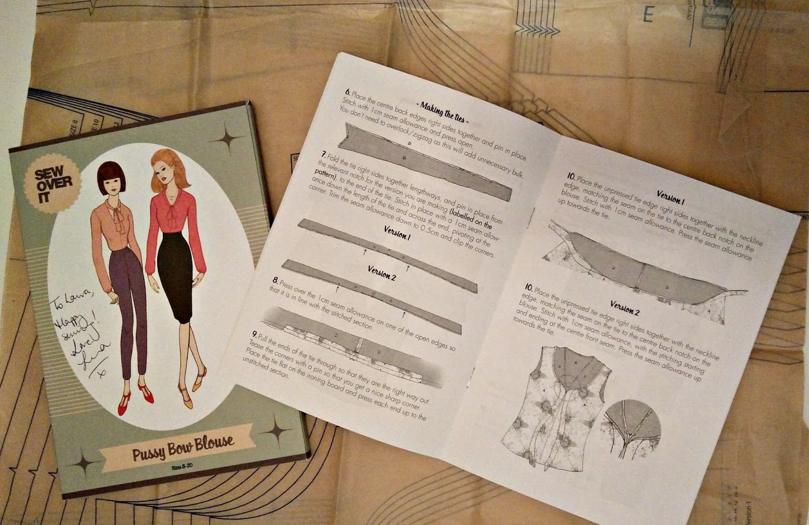 Sew Over It Pussy Bow Blouse Pattern and Instructions