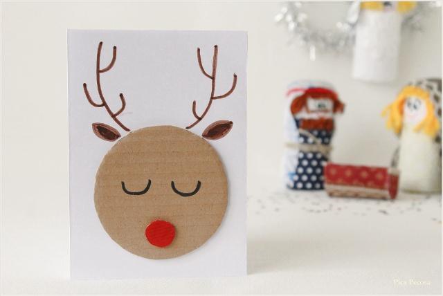 postal-navidad-diy-materiales-reciclados-reno-cara-carton