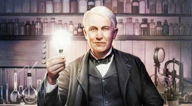 Thomas Alva Edison, Konsep Hidup dan Lampu Pijar