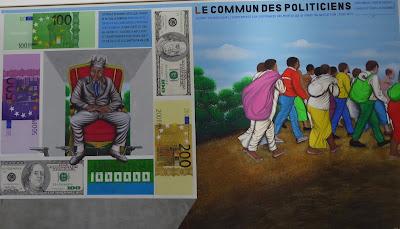 Exposition à la Fondation Lambert à Avignon : Chéri Shamba (acrylique et paillettes sur toile)