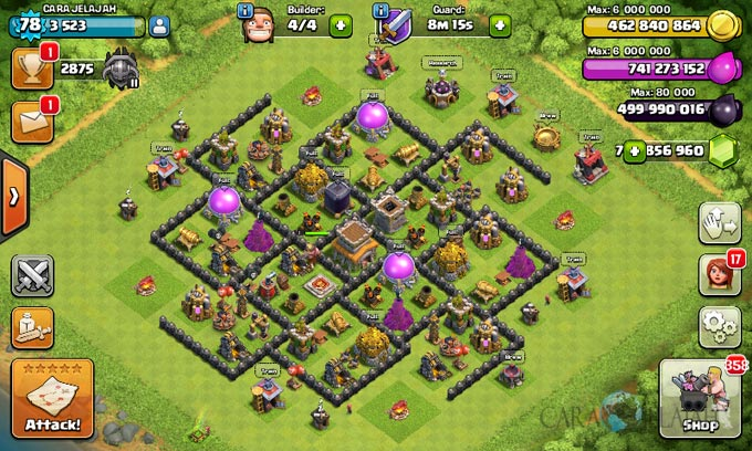 Susunan Formasi Base War TH 8 Update Terbaru 1