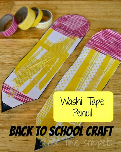 back to school pencil craft for kids