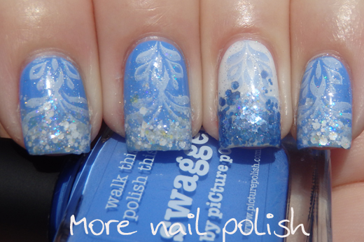 Picture Polish Swagger - stamped and glitter tip ~ More Nail Polish