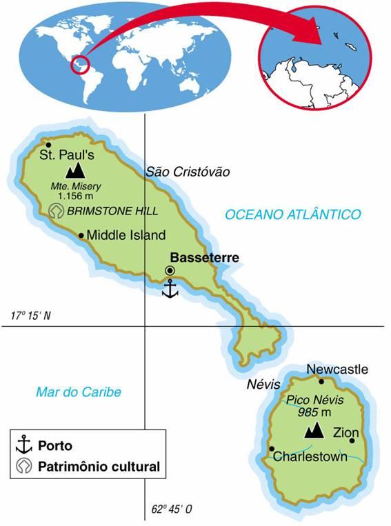 São Cristóvão e Névis (269 km²)