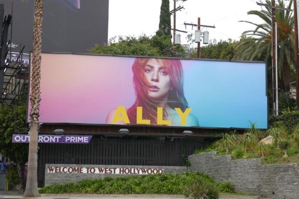 Lady Gaga A Star is Born Ally billboard Sunset Strip