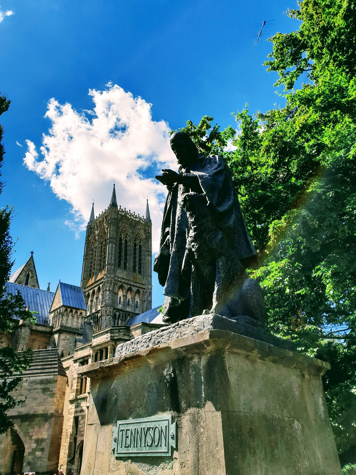 Statue Of Alfred Lord Tennyson Lincoln